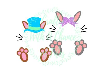 Easter SVG * Easter Bunny Monogram SVG