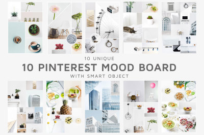 10 Pinterest Mood Board Templates Ver.1
