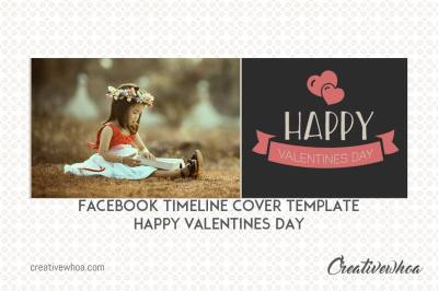Facebook Timeline Cover Template Happy Valentines Day CW003
