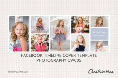 Facebook Timeline Cover Template Photography CW005