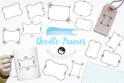 Doodle Frames graphics and illustrations