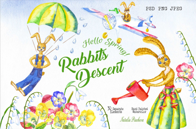 Welcome Spring! Rabbits Descent