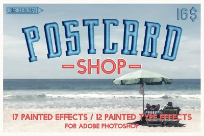 Postcard Shop for Adobe Photoshop