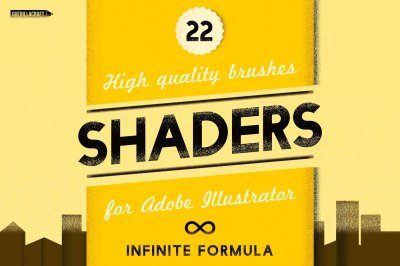 Shaders Brushes for Adobe Illustrator