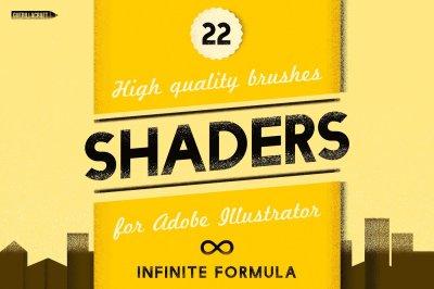 Shaders Brushes for Adobe Illustrator