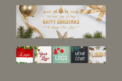 5 Christmas & New Year FB Covers