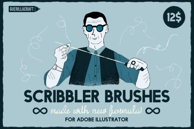 Scribbler Brushes for Adobe Illustrator