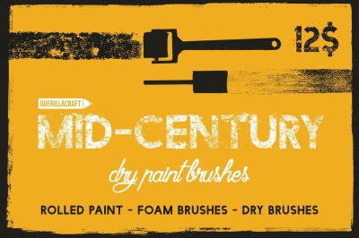 Mid-century Dry Paint Brushes