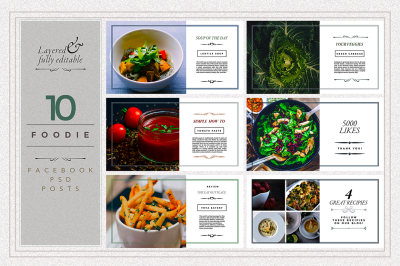 FOODIE facebook posts pack