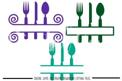 Cutlery SVG / DXF / EPS / PNG Files