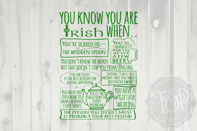 St Patrick's Day, Cutting File, Irish SVG, DXF, EPS, PNG