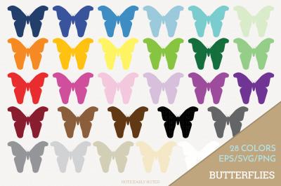 Butterfly Clip Art / Butterflies SVG