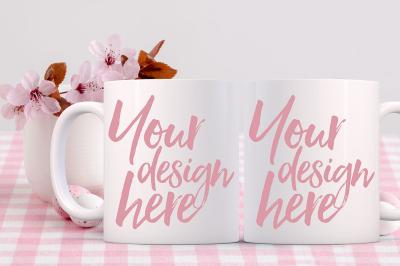 Easter Mug Mockup - 2 mugs