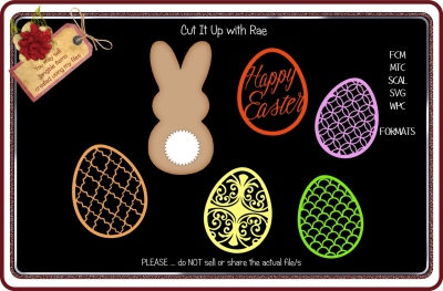 948 Easter Eggs and A Bunny  Multiple MACHINE Formats