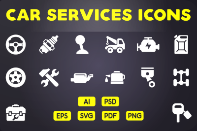 Glyph Icon: Car Services Icons Vol 1