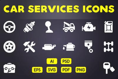 Glyph Icon: Car Services Icons Vol 1