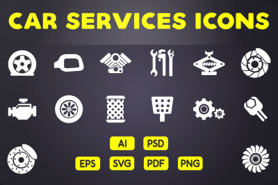 Glyph Icon: Car Services Icons Vol 2