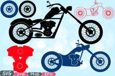Choppers Monogram Motorbike Cutting Files SVG