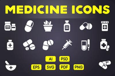 Glyph Icon: Medicine Icons Vol.2