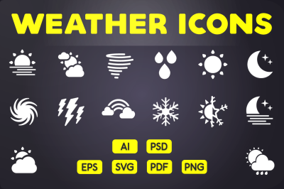 Glyph Icon: Weather Icons Vol.2