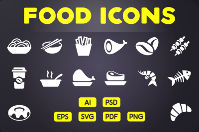 Glyph Icon: Food Icons Vol.1