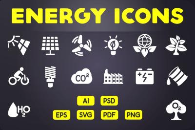 Glyph Icon: Energy Icons Vol.1