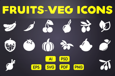 Fruits & Vegetables Icons Vol.2