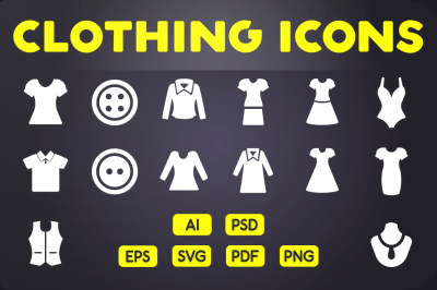 Glyph Icon: Clothing Icons Vol.2