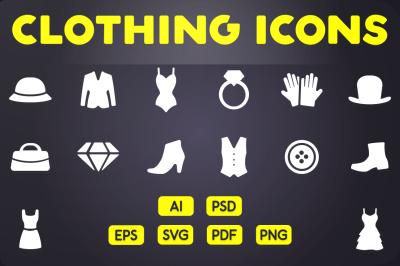Glyph Icon: Clothing Icons Vol.1
