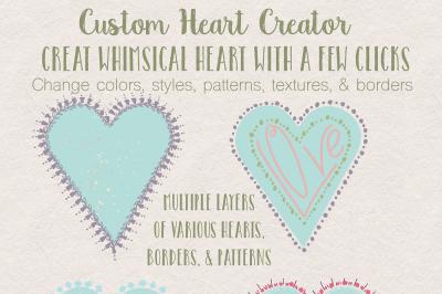 Custom Whimsical Heart Creator