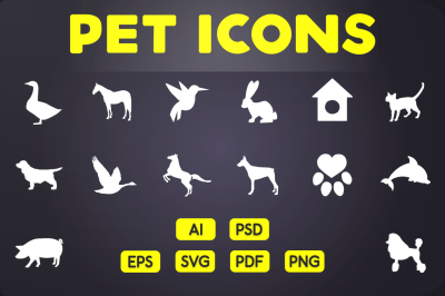 Glyph Icon: Pet Icons Vol.2
