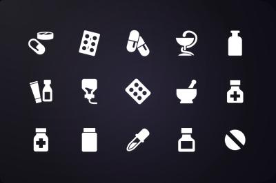 Glyph Icon: Medicine Icons Vol.1