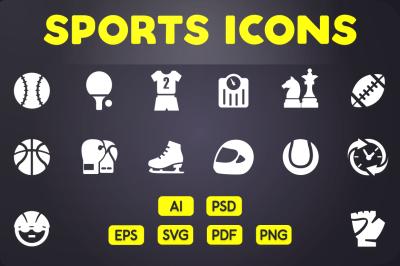 Glyph Icon: Sports Icons Vol.1
