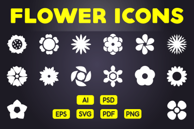 Floral Icon - Flower Symbol Icons