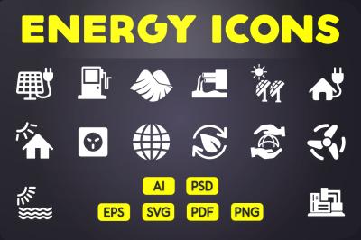 Glyph Icon: Energy Icons Vol.2