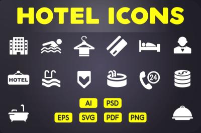 Glyph Icon: Hotel Icons Vol.1