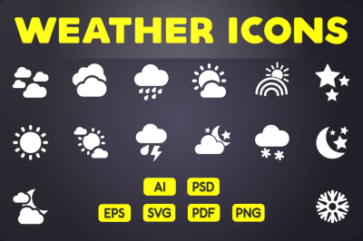 Glyph Icon: Weather Icons Vol.1