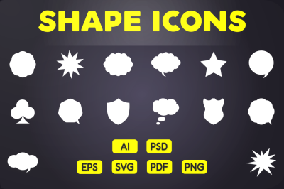 Glyph Icon: Shape & Geometry Icons