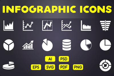 Glyph Icon: Graphs Icon Chart Icons