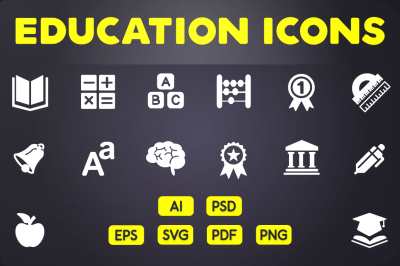 Glyph Icon: Education Icons Vol.1