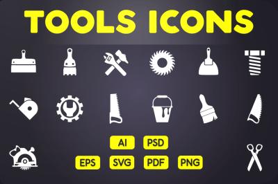 Glyph Icon: Tools Icons Vol.1