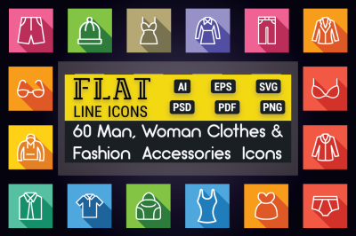 Clothes & Fashion Accessories Icons