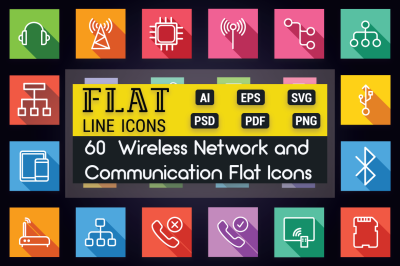 Communication and Network Flat Icons