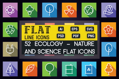Ecology - Nature and Science Icons