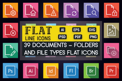 Documents, Folder & File Types Icons