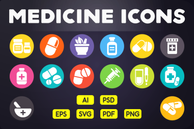 Flat Icon: Medicine Icons Vol.2