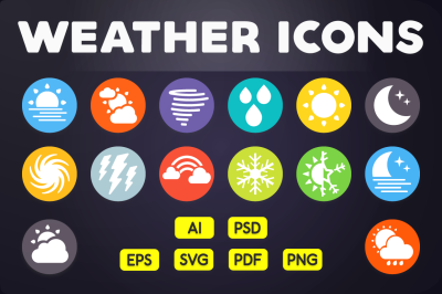 Flat Icon: Weather Icons Vol.2