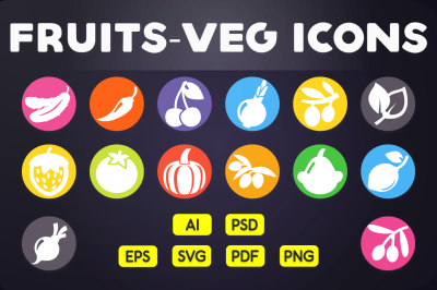 Fruits & Vegetable Icons Vol.2
