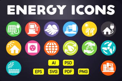 Flat Icon: Energy Icons Vol.2