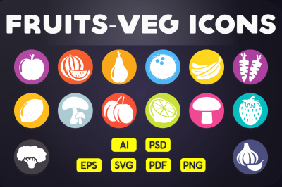 Fruits & Vegetable Icons Vol.1